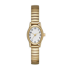 Womens Gold Tone Expansion Watch-Fmdjo115