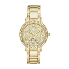 Geneva Womens Gold Tone Bracelet Watch-Fmdjm183