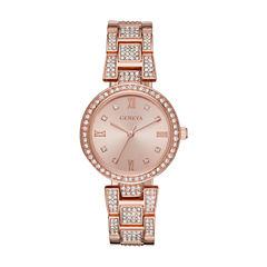 Geneva Womens Rose Goldtone Bracelet Watch-Fmdjm187