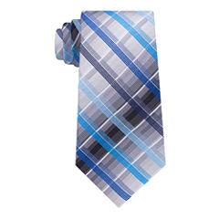 Van Heusen Vh Xl Tie Spinner Plaid Tie