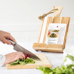 Love Home Marble & Acacia Tablet Recipe Stand