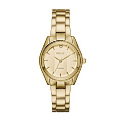 Relic Womens Gold Tone Bracelet Watch-Zr34418