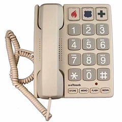 Cortelco ITT-2400 Big Button Corded Telephone - Sandal