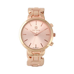 Daisy Fuentes Womens Rose Gold tone Bangle Watch-Df123rg