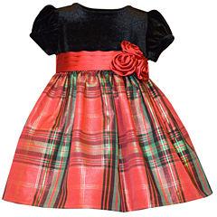 Bonnie Jean Short Sleeve Party Dress - Toddler Girls