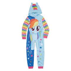Long Sleeve One Piece Pajama-Big Kid Girls