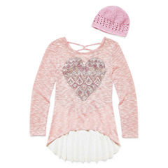 Knit Works Long Sleeve Layered Top - Big Kid Girls