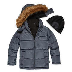Weatherproof Heavyweight Puffer Jacket with Beanie - Boys-Big Kid