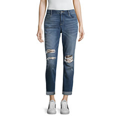 Arizona Sequin Boyfriend Jeans-Juniors