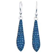 Sparkle Allure Sparkle Allure Blue Silver Over Brass Drop Earrings