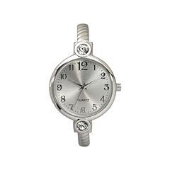 Olivia Pratt Silver Tone Cuff Watch-80006silver