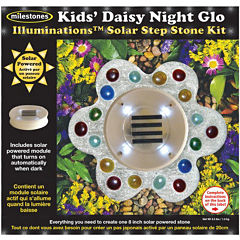 Kids Daisy Night Glo Solar Step Stone Kit