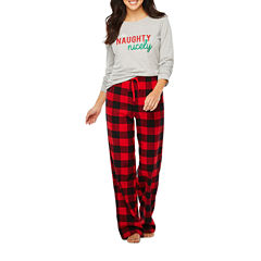 North Pole Trading Co. Checkin' It Twice Flannel Family Pajamas-Women's
