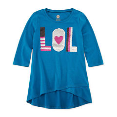 TG 3/4 Sleeve Flip Sequin Tunic - Girls' 7-16 & Plus