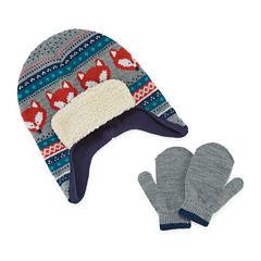 Fox Hat & Glove Set - Toddler Boys