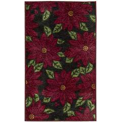 Nourison® Allover Poinsettias Rectangular Rug