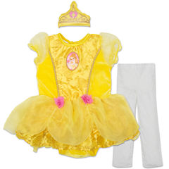 Belle Short Sleeve Beauty and the Beast A-Line Dress - Baby Girls