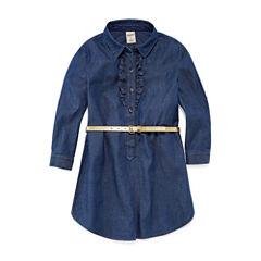 Arizona Long Sleeve Shirt Dress - Preschool Girls