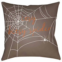 decor 140 itsy bitsy spider square throw pillow - Halloween Pillows