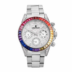 Croton Womens Silver Tone Bracelet Watch-Cn307565ssmc