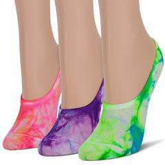 3Pk Tie Dye Mesh Liner Socks