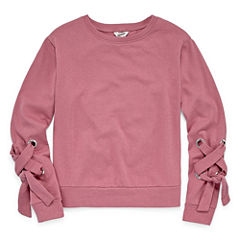 Arizona Lace Up Sleeve Sweatshirt-Juniors