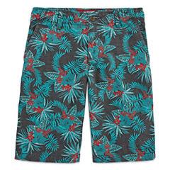 Arizona Printed Chino Shorts Boys 8-20, Slim & Husky