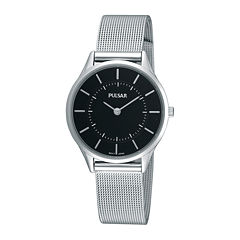 Pulsar® Womens Stainless Steel Mesh Watch PTA501X