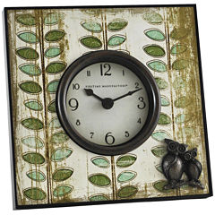 FirsTime® Hoot Tabletop Clock