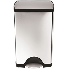 simplehuman® 38-Liter Rectangular Stainless Steel Step Trash Can