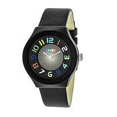 Crayo Unisex Black Strap Watch-Cracr3502