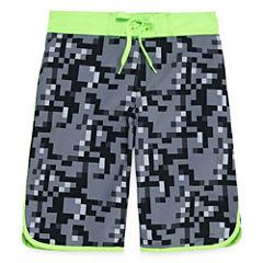 Arizona Boys Camouflage Swim Trunks-Big Kid