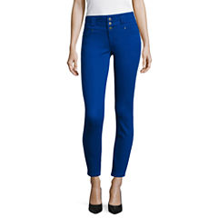 Blue Spice High Waist Ankle Skinny Pants Juniors
