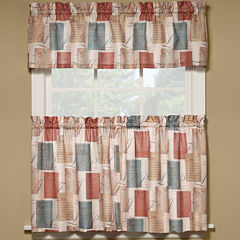 Tranquility Rod-Pocket Kitchen Curtains
