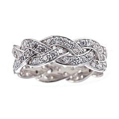 DiamonArt® Cubic Zirconia Sterling Silver Infinity Ring