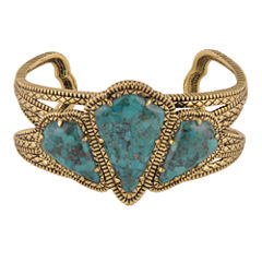 Art Smith by BARSE Genuine Turquoise Brass Cuff Bracelet