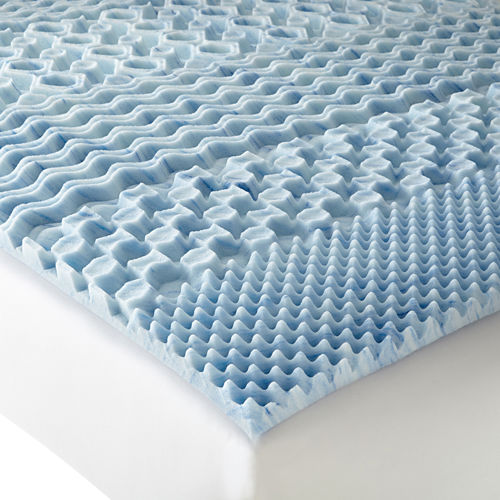 Isotonic® Therapure™ 7-Zone 1.5 Memory Foam Mattress Topper