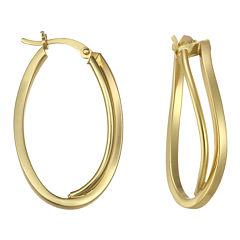 Double Wave Hoop Earrings