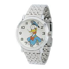 Disney Mens Donald Duck Stainless Steel Bracelet Watch