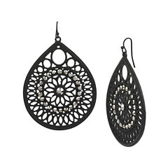 Mixit™ Lace Metalwork Teardrop Earrings