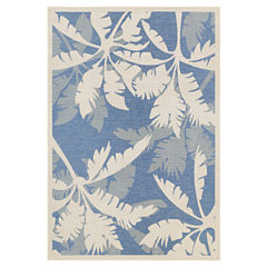 Couristan® Coastal Floral Indoor/Outdoor Rectangular Rug