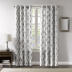 Madison Park Ivy Blackout Grommet-Top Curtain Panel