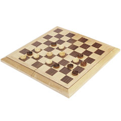 Deluxe Wood Chess and Checkers Set