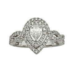1 CT. T.W. Certified Diamond 14K White-Gold Engagement Ring