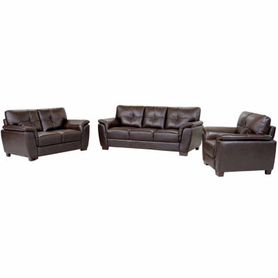 Victoria Leather Sofa + Loveseat Set