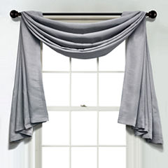 JCPenney Home Textured Blackout Unlined Scarf Valance