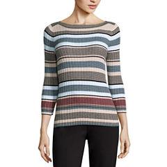Liz Claiborne Stripe Pullover Sweater