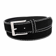 Florsheim 34 Mm  Suede Leather Belt W Contrast Solid Belt