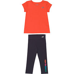New Balance 2-pc. Pant Set Baby Girls