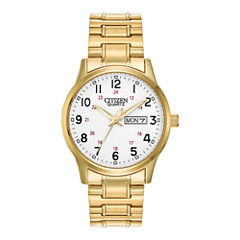 Citizen® Mens Gold-Tone Stainless Steel Expansion Strap Watch BF0612-95A